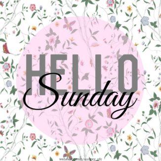สวัสดีวันอาทิตย์ ภาษาอังกฤษ